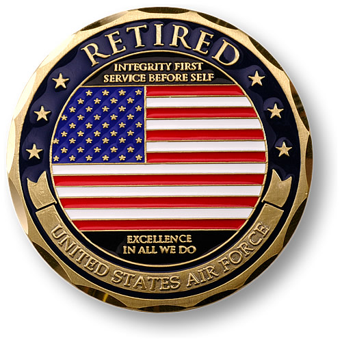 Air Force Retired Adhesive Medallion