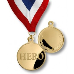 Hero Medal with Neck Ribbon