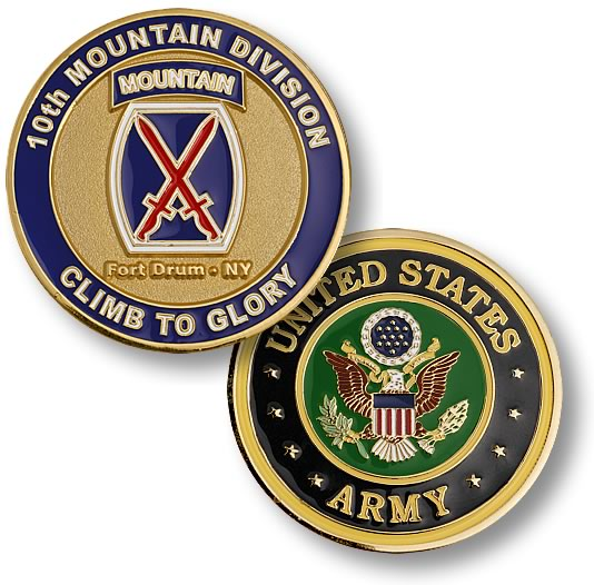 Fort Drum 10th Mountain Division Coin
