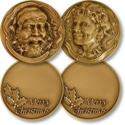 Santa and Mrs. Claus Coin Set
