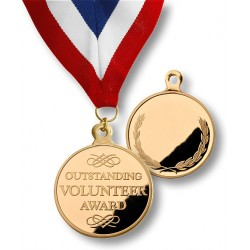 Outstanding Volunteer Medal with Neck Ribbon