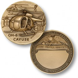 OH-6 Cayuse Engravable Challenge Coin