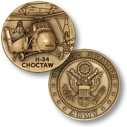 H-34 Choctaw Challenge Coin
