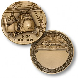 H-34 Choctaw Engravable Challenge Coin