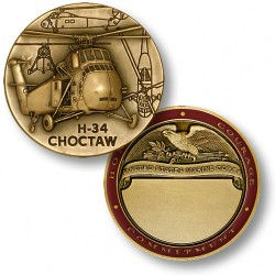 H-34 Choctaw Marine Engravable Challenge Coin