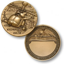 OH-58 Kiowa Army Challenge Coin - Engravable