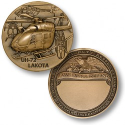 UH-72 Lakota Engravable Challenge Coin