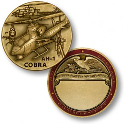 AH-1 Cobra Engravable Marine Challenge Coin