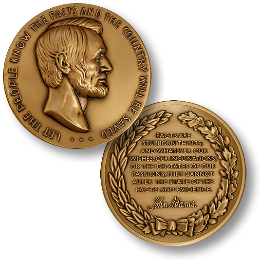 Lincoln Facts Principles Amp Values Coin
