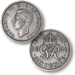 Bride's Lucky Wedding Sixpence