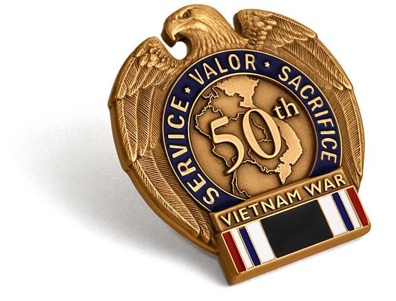 Vietnam War 50th Anniversary Pow Mia Commemorative Insignia
