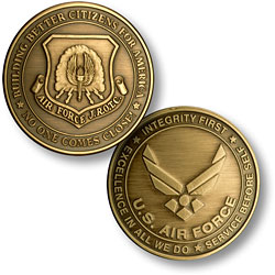 JROTC New Air Force Emblem Bronze Antique