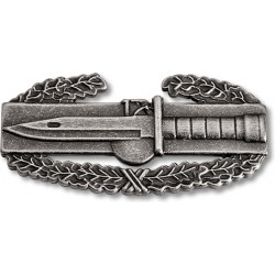 Combat Action Oxidized Silver Badge