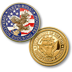 Enduring Freedom - US Navy MerlinGold® Enamel