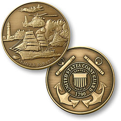 "Coast Guard Theme - USCG 1 7/8"" Bronze Antique"