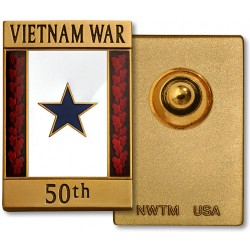 Vietnam War 50th Anniversary Blue Star Commemorative Insignia