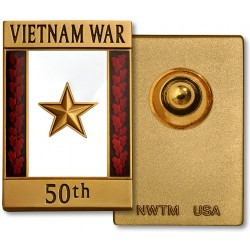 Vietnam War 50th Anniversary Gold Star Commemorative Insignia - Engravable Reverse