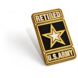 Army Retired Lapel Pin