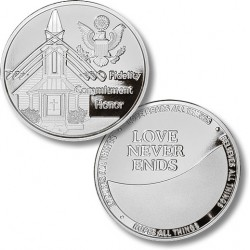 Fidelity, Commitment, Honor - Wedding Medallion - Proof-like Nickel