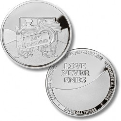 Just Married Military - Wedding Medallion - Proof-like Nickel