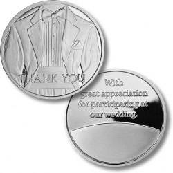 Thank You - Tuxedo - Wedding Medallion - Proof-like Nickel