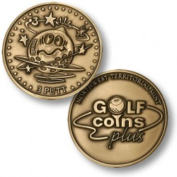 Golf Coins Plus 3 Putt - Bronze or Nickel Antique