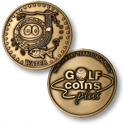 Golf Coins Plus Water - Bronze or Nickel Antique