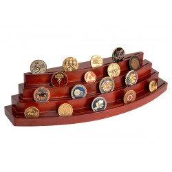 Four Level Rosewood Coin Display Stand