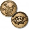 Golf Coins Plus 1 Putt - Bronze or Nickel Antique