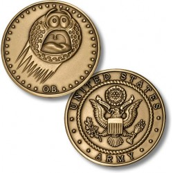 Golf Coins Plus Out of Bounds - Army - Bronze Antique