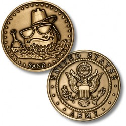 Golf Coins Plus Sand - Army - Bronze Antique