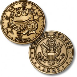Golf Coins Plus Special - Army - Bronze Antique