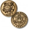 Golf Coins Plus Water - Army - Bronze Antique