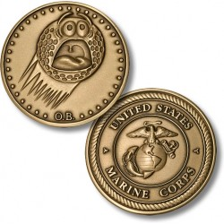 Golf Coins Plus Out of Bounds - Marine Corps - Bronze  Antique