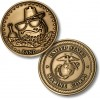 Golf Coins Plus Sand - Marine Corps - Bronze Antique