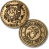 Golf Coins Plus Water - Marine Corps - Bronze Antique