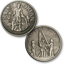Saint Florian - America Unites Nickel Antique