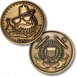 Golf Coins Plus Sand - Coast Guard - Bronze Antique