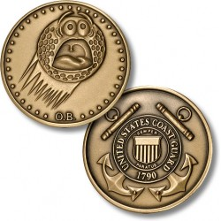 Golf Coins Plus Out of Bounds - Coast Guard - Bronze Antique