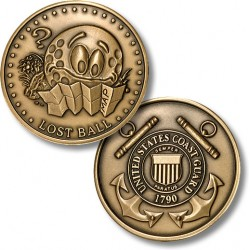 Golf Coins Plus Lost Ball - Coast Guard - Bronze Antique