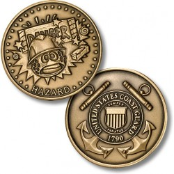 Golf Coins Plus Hazard - Coast Guard - Bronze Antique