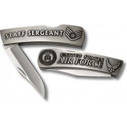US Air Force Staff Sergeant Small Lockback Knife