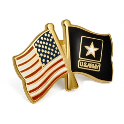 USA/U.S. Army Flags Lapel Pin