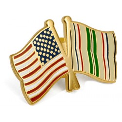 US - Desert Storm Crossed Flags Lapel Pin