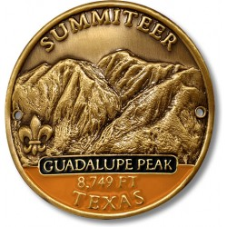 Summiteer Hiking Stick Medallion - Guadalupe Peak, Texas