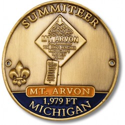 Summiteer Hiking Stick Medallion - Mount Arvon, Michigan