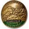 Summiteer Hiking Stick Medallion - Pikes Peak, Colorado