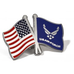 USA/USAF Flags Lapel Pin