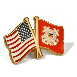 USA/U.S. Coast Guard Flags Lapel Pin