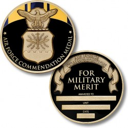 Air Force Commendation Medal Coin - Engravable
